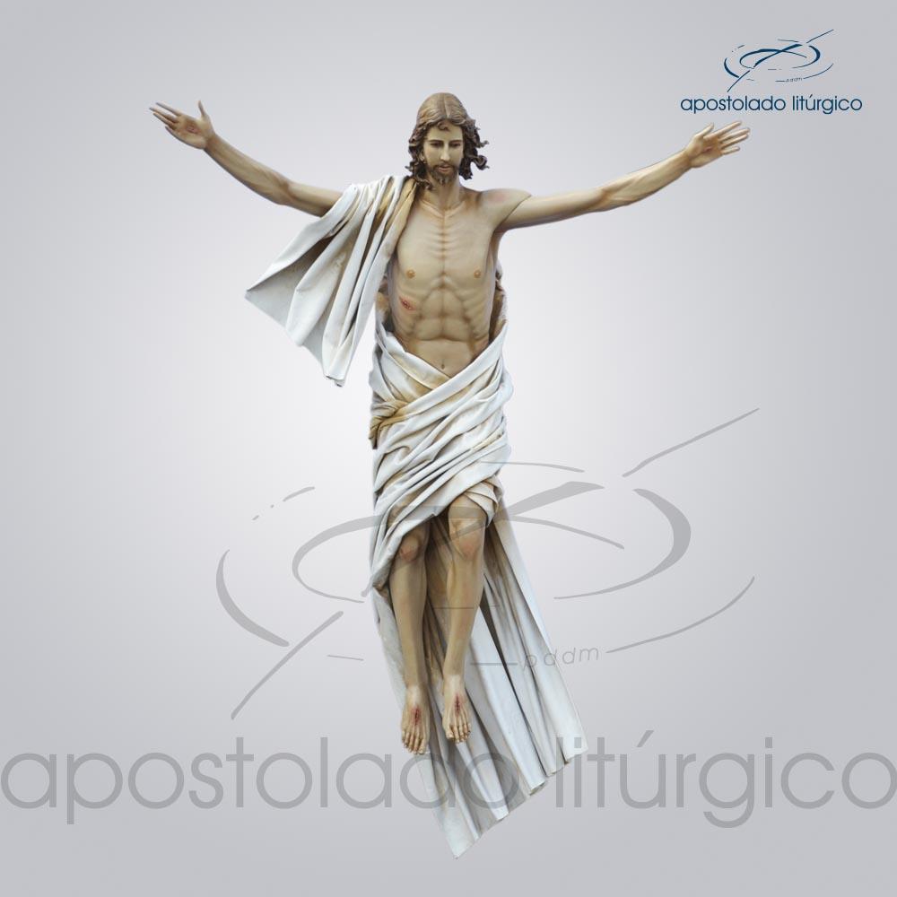 Imagem Cristo Ressuscitado Fibra 180x160cm Frente COD 4207 | Apostolado Litúrgico Brasil