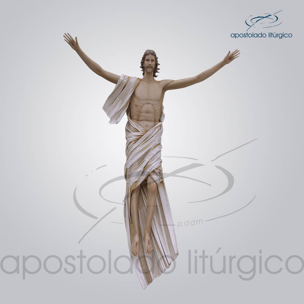 Imagem Cristo Ressuscitado Fibra 280x235cm Frente | Apostolado Litúrgico Brasil