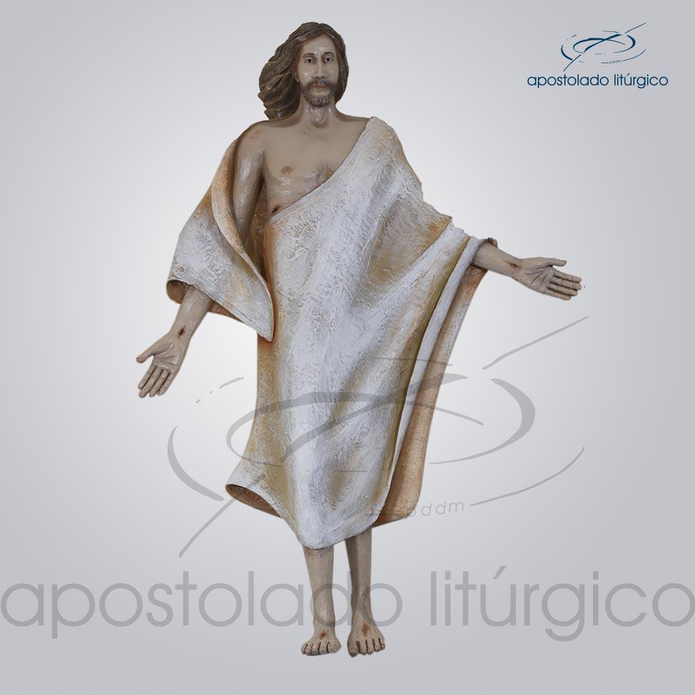 Imagem Cristo Ressuscitado fibra 70 cm COD 4152 | Apostolado Litúrgico Brasil