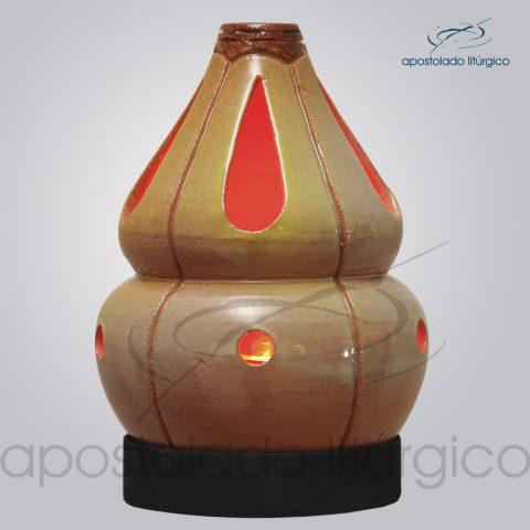 Indicador de Ceramica Chama Olho Esmaltado Parede Medio 15 cm Esverdeado COD 2175