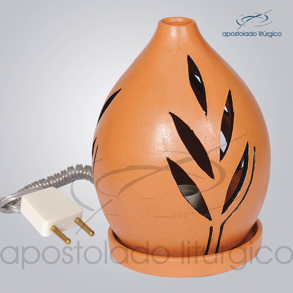 Indicador de Ceramica Folha Betume Mesa Pequeno 13cm 2 COD 2117 | Apostolado Litúrgico Brasil