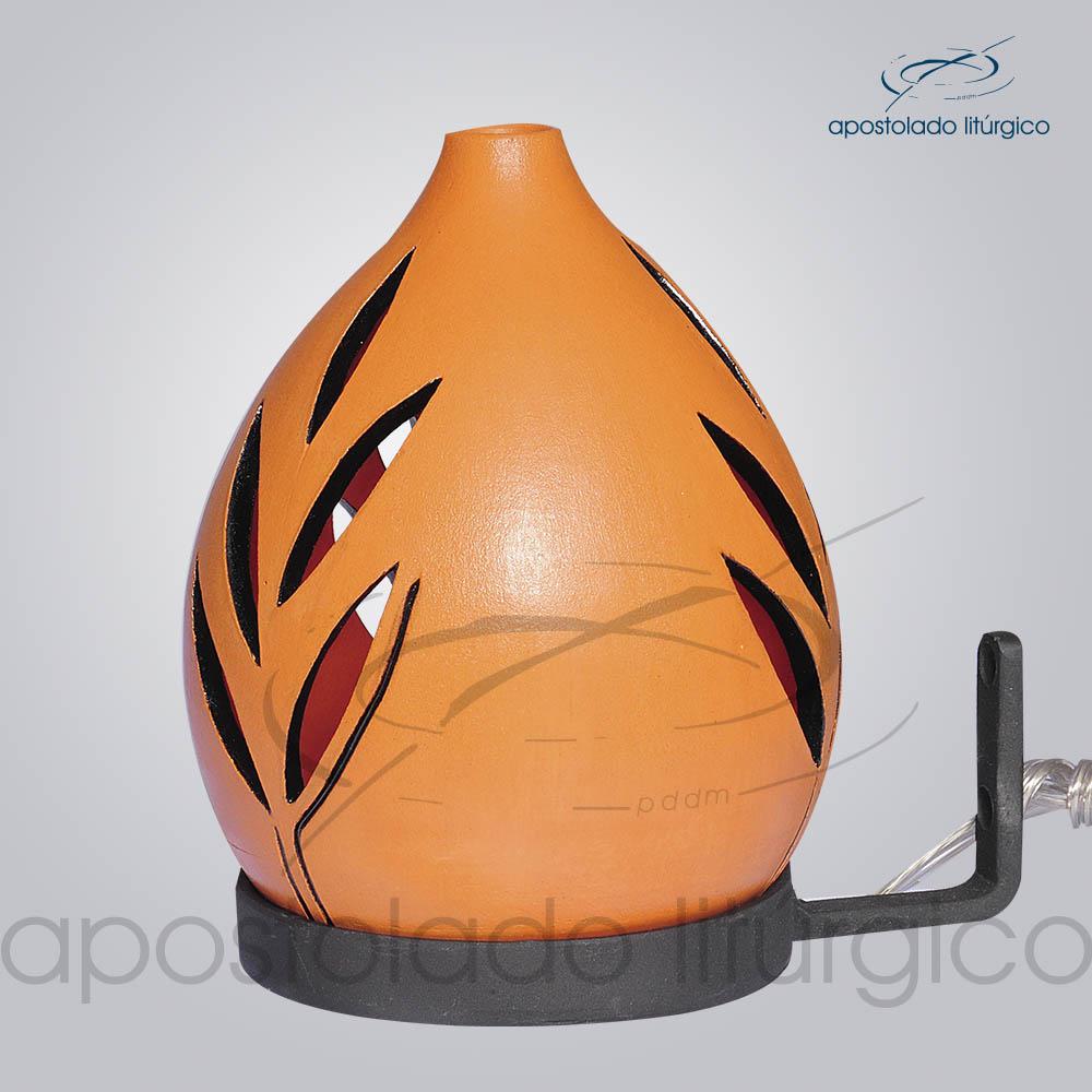 Indicador de Ceramica Folha Betume Parede Medio 15cm COD 2142 | Apostolado Litúrgico Brasil