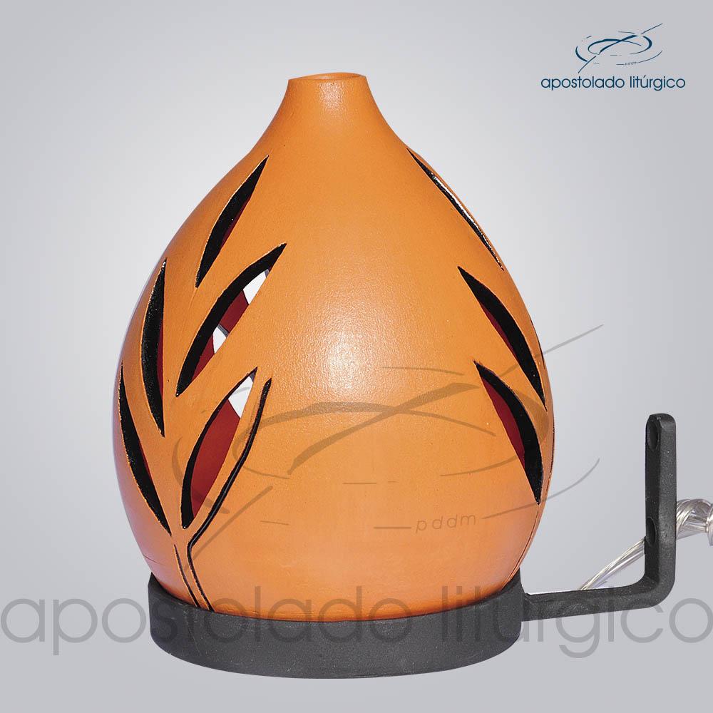 Indicador de Ceramica Folha Betume Parede Medio 15cm COD 2164 | Apostolado Litúrgico Brasil