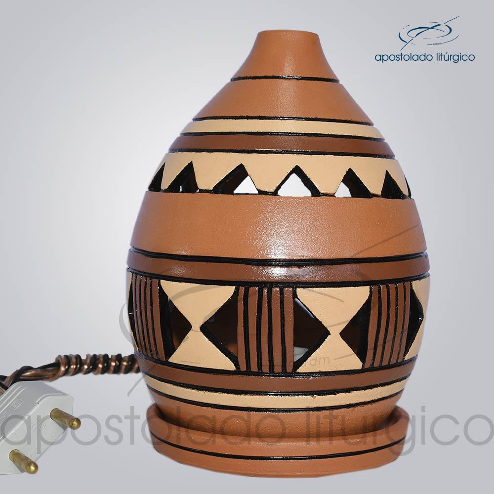 Indicador de Ceramica Grega Mesa Medio 15cm Marrom 1 COD 2125 | Apostolado Litúrgico Brasil