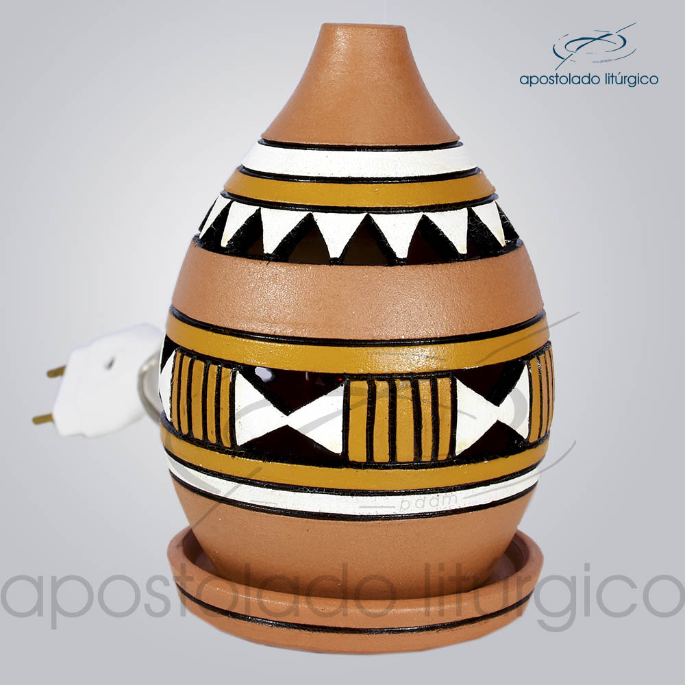 Indicador de Ceramica Grega Mesa Pequeno 13cm Amarelo COD 2217 | Apostolado Litúrgico Brasil