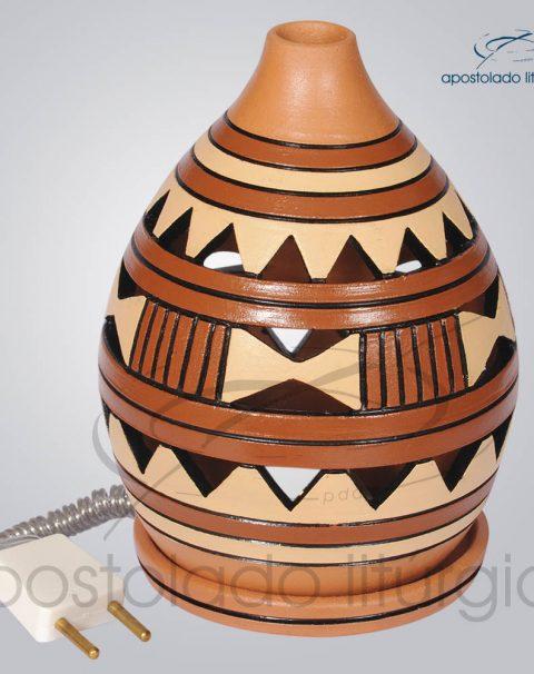 Indicador de Ceramica Grega Mesa Pequeno 15cm Marrom COD 2117