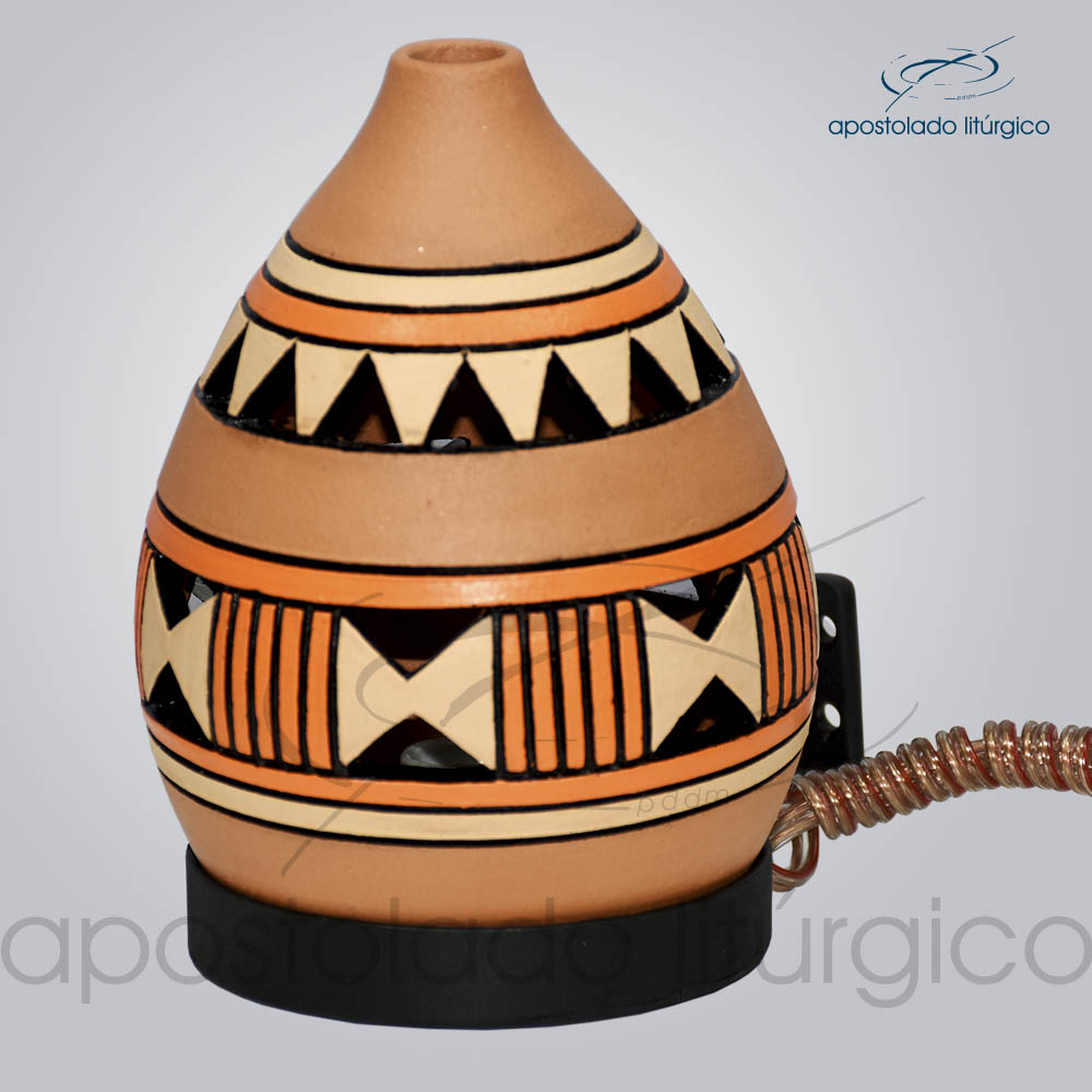 Indicador de Ceramica Grega Parede Medio 15cm Laranja COD 2192 | Apostolado Litúrgico Brasil