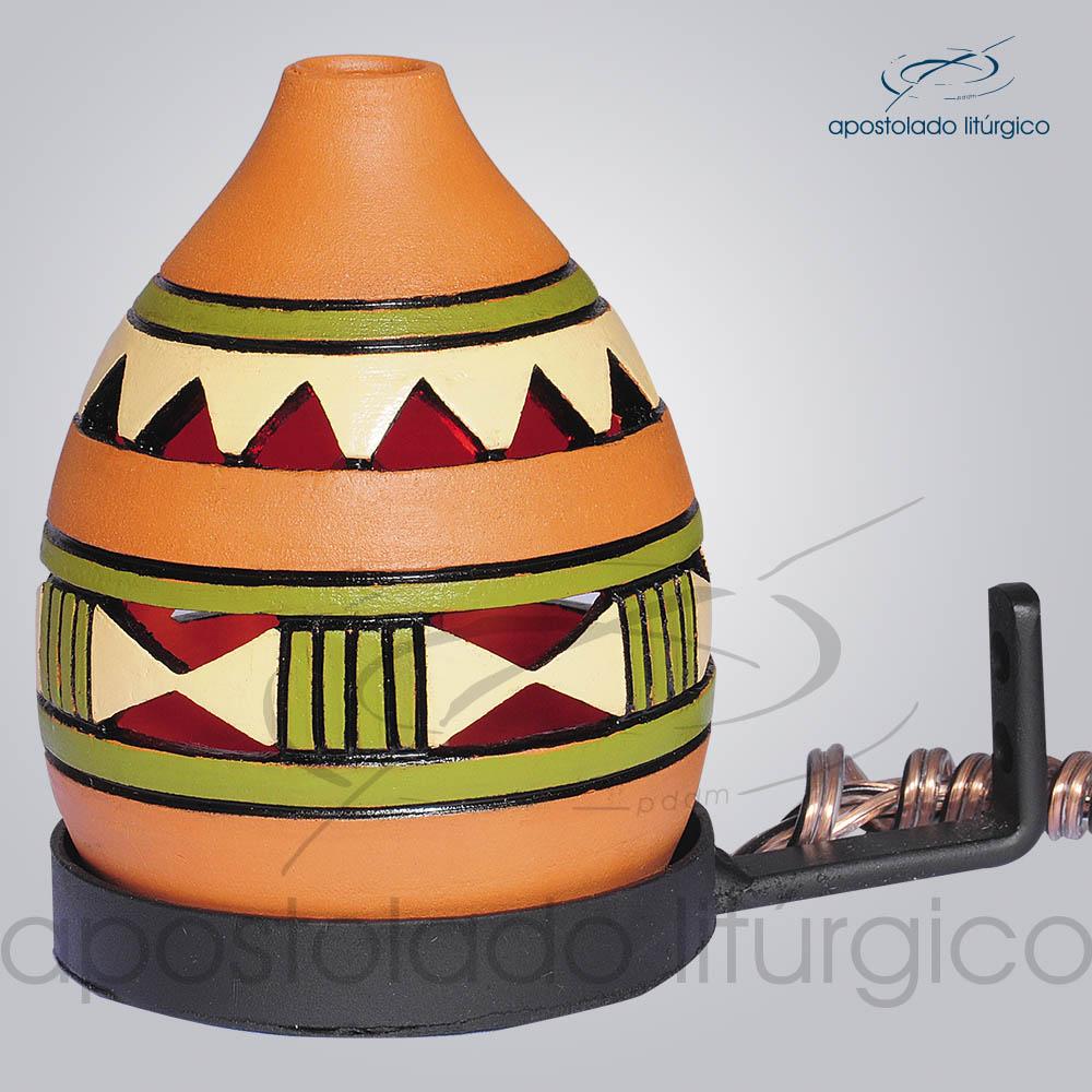 Indicador de Ceramica Grega Parede Medio 15cm Verde COD 2192 | Apostolado Litúrgico Brasil