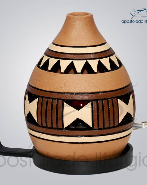 Indicador de Ceramica Grega Parede Pequeno 13cm Marrom COD 2053