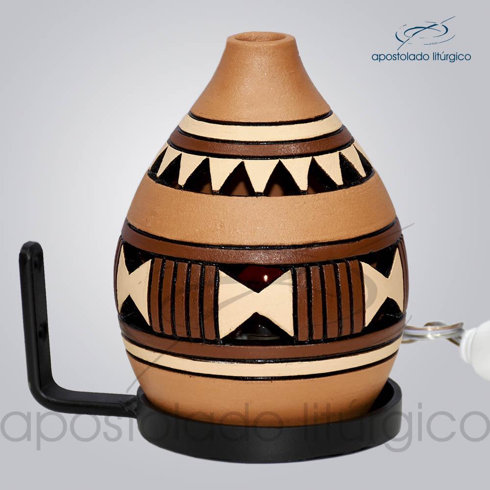 Indicador de Ceramica Grega Parede Pequeno 13cm Marrom COD 2053 | Apostolado Litúrgico Brasil