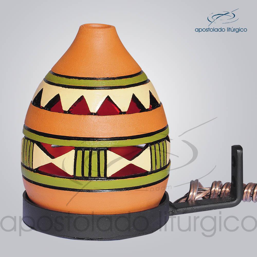 Indicador de Ceramica Grega Parede Pequeno 13cm Verde COD 2053 | Apostolado Litúrgico Brasil