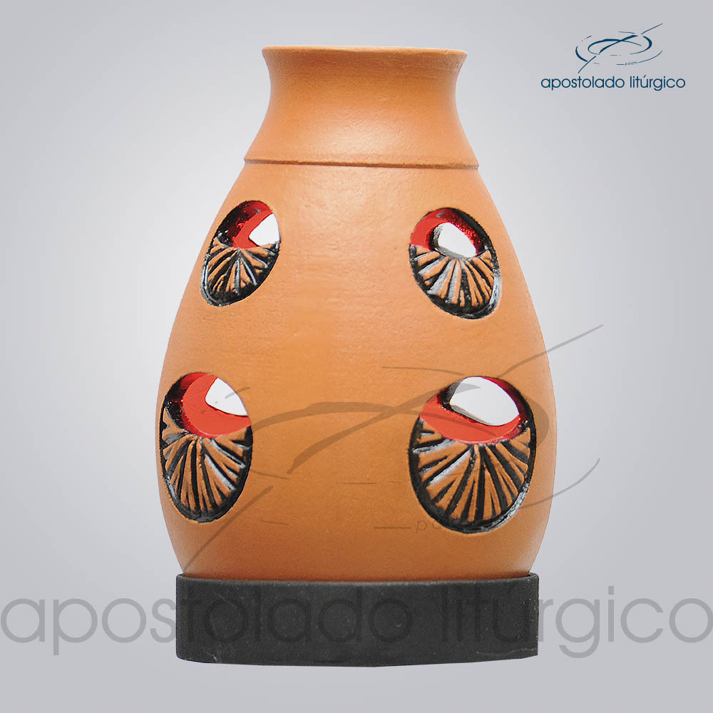 Indicador de Ceramica Lampiao Olho Betume Parede 13cm COD 2218 1 | Apostolado Litúrgico Brasil