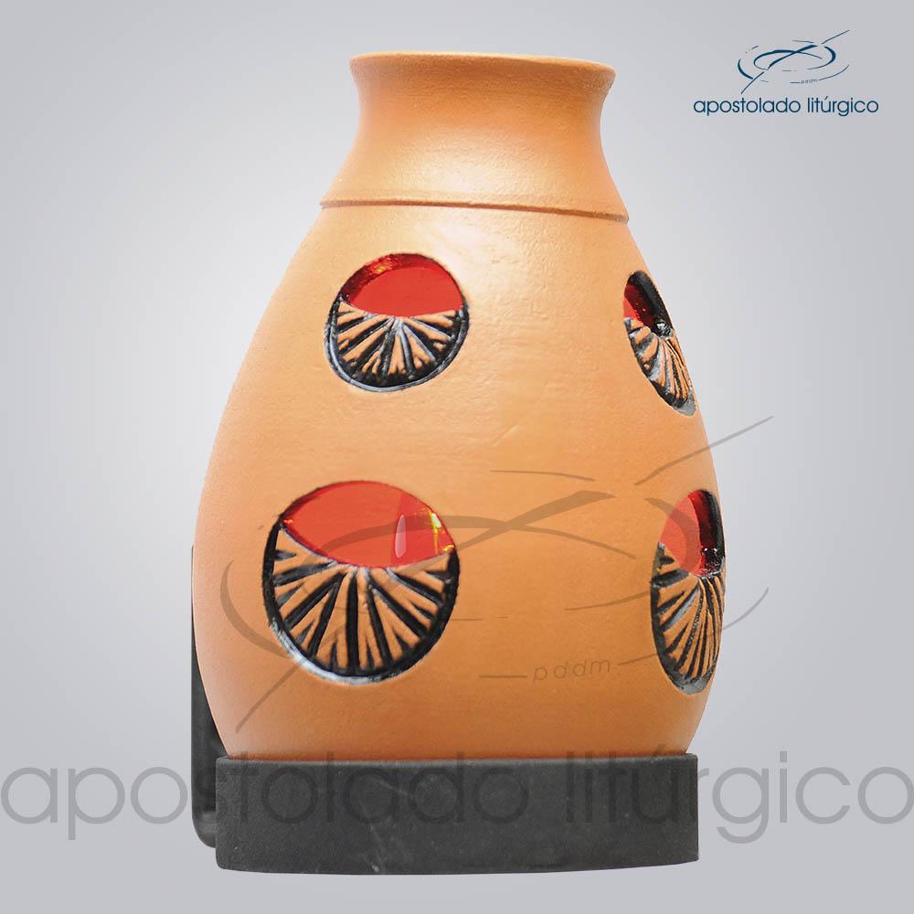 Indicador de Ceramica Lampiao Olho Betume Parede 13cm COD 2218 2 | Apostolado Litúrgico Brasil