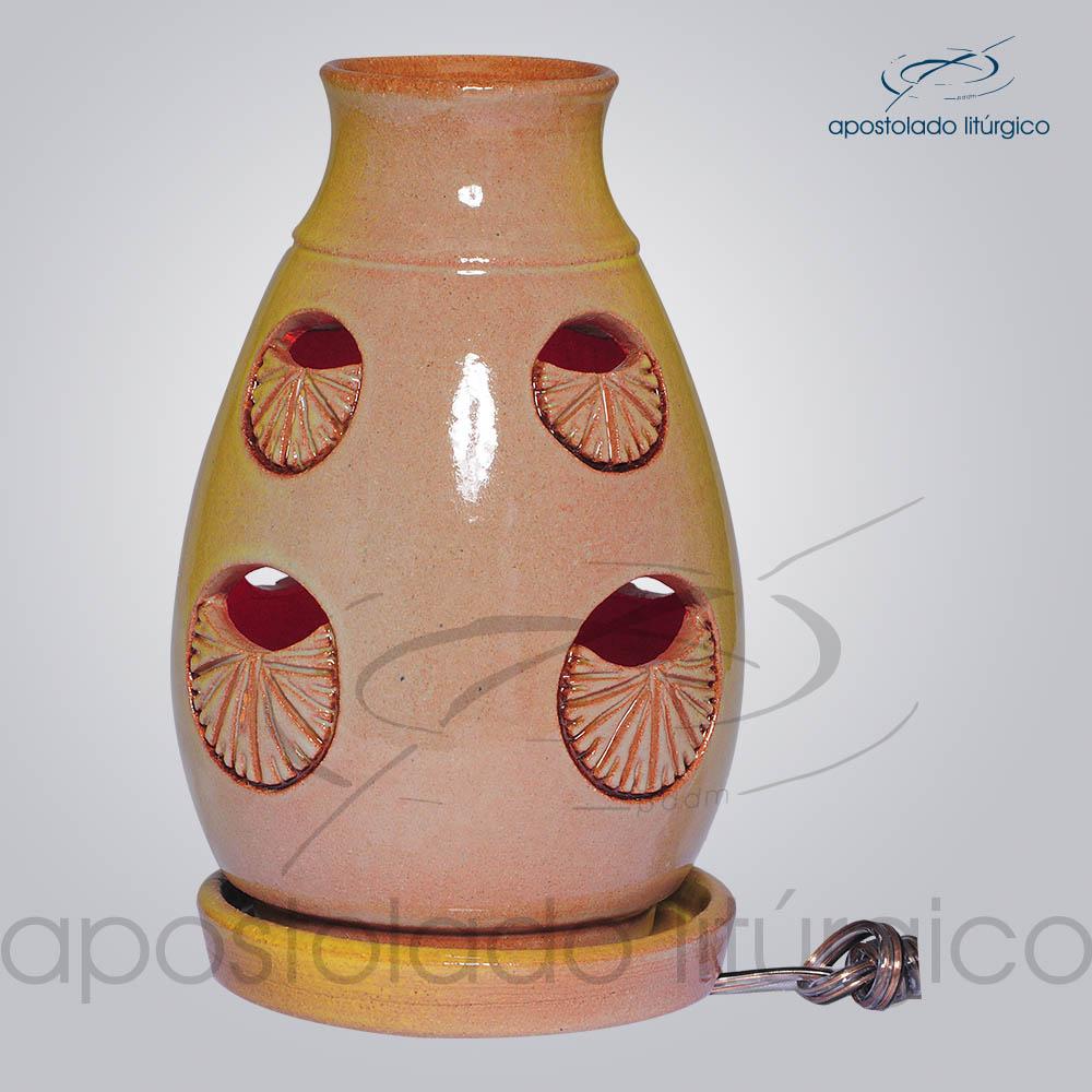 Indicador de Ceramica Lampiao Olho Esmaltado Mesa 13 cm COD 2221 1 | Apostolado Litúrgico Brasil