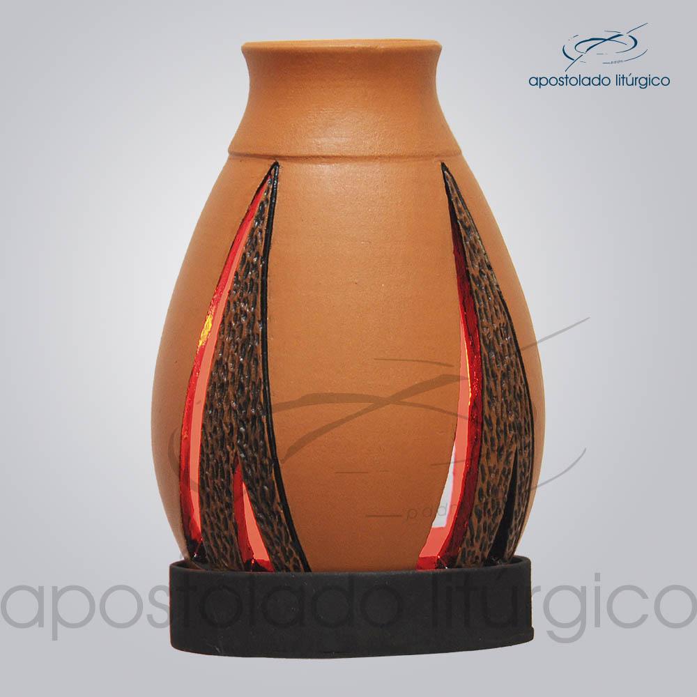 Indicador de Ceramica Lampiao Triangular Betume Parede 13cm COD 2222 3 | Apostolado Litúrgico Brasil