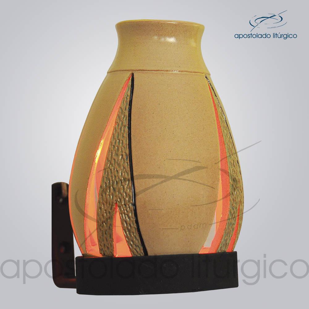 Indicador de Ceramica Lampiao Triangular Parede 13 cm COD 2223 4 | Apostolado Litúrgico Brasil