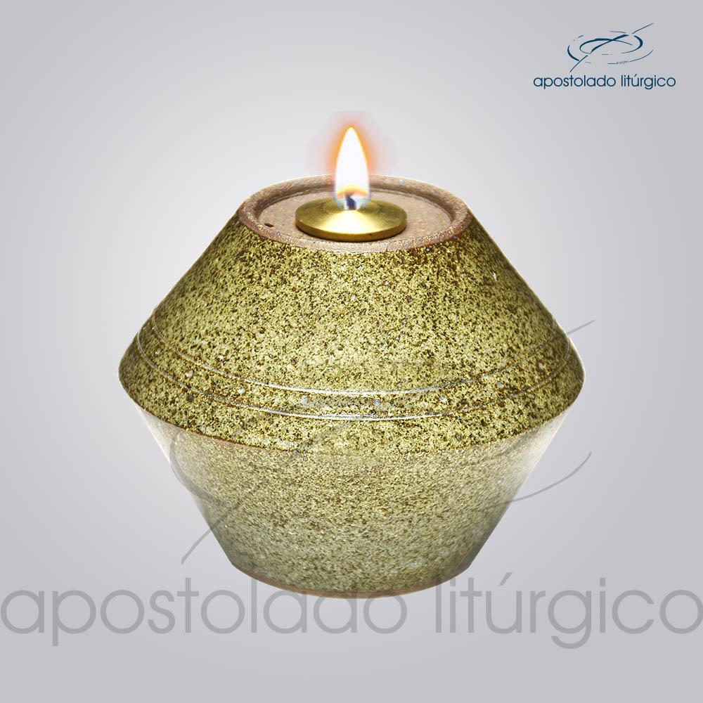 Indicador de Ceramica para Fluido 10 cm Verde Musgo Rajado COD 2177 1 | Apostolado Litúrgico Brasil