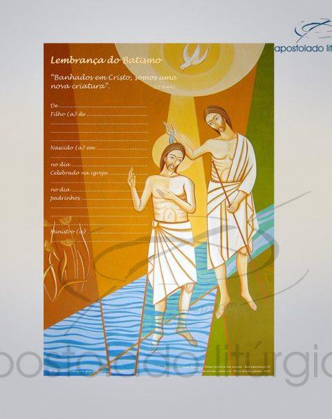 Lembranca para Batismo 28X20 cm frente COD 03049-0000