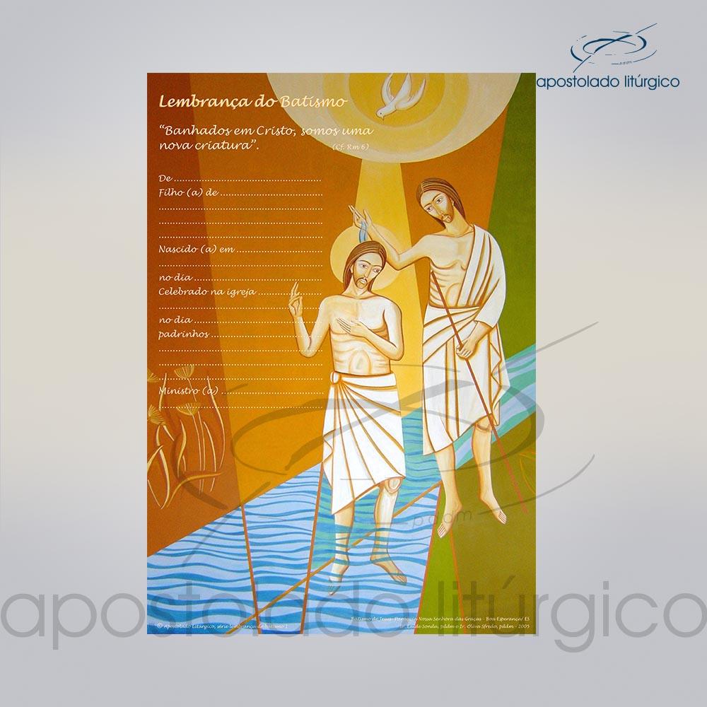 Lembranca para Batismo 28X20 cm frente COD 03049 0000 | Apostolado Litúrgico Brasil