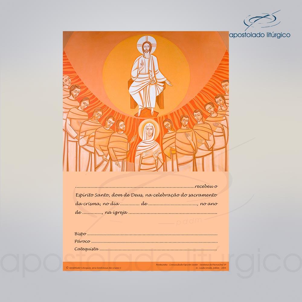 Lembranca para Crisma 28X20 cm COD 03050 0000 | Apostolado Litúrgico Brasil