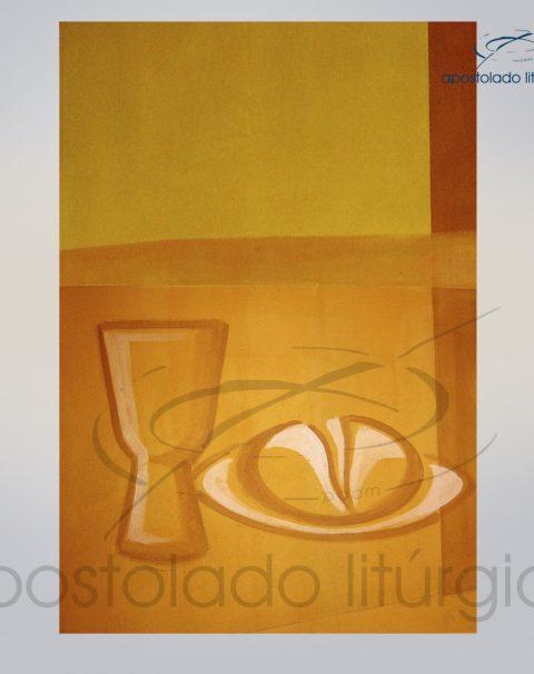 Lembranca para Primeira Comunhao 11X8 cm frente PAO E VINHO COD 03051-0000