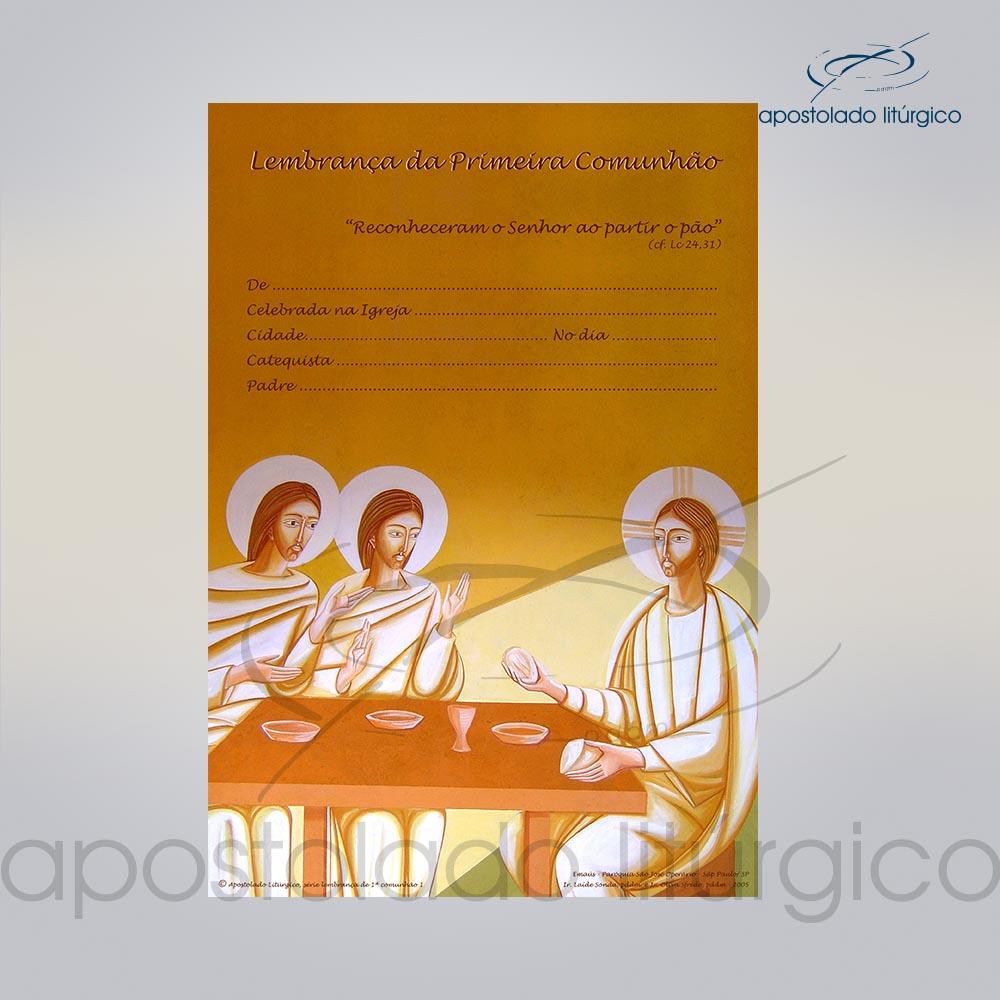 Lembranca para Primeira Comunhao 28X20 cm COD 03048 0000 | Apostolado Litúrgico Brasil