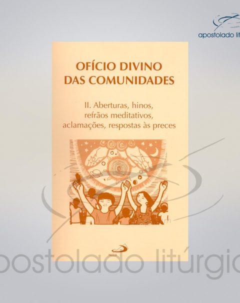 Livro Partitura do Oficio Divino das Comunidades 2 COD 05007-0000