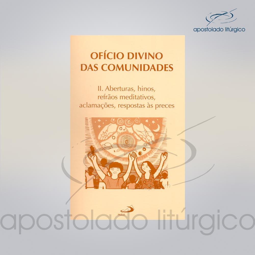 Livro Partitura do Oficio Divino das Comunidades 2 COD 05007 0000 | Apostolado Litúrgico Brasil