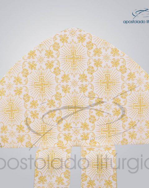 Mitra Classica Brocada [Cruz 1] Sem Galao Frente – COD 3539