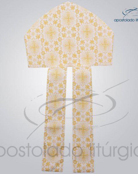 Mitra Classica Brocada [Cruz 1] Sem Galao Infola – COD 3539