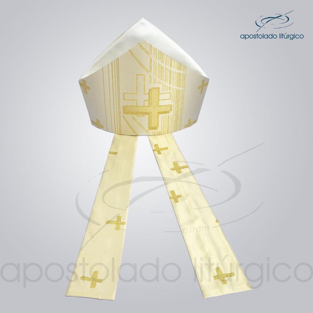 Mitra Gotica cruz pascal 1 Perola infola2 | Apostolado Litúrgico Brasil