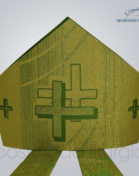 Mitra Gotica cruz pascal 1 verde
