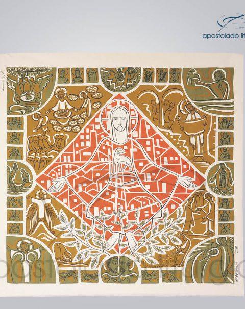 Painel Liturgico Tempo Comum 130x125cm