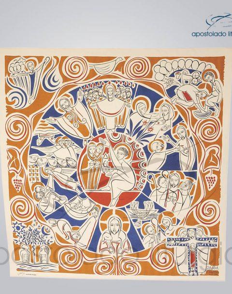 Painel Liturgico Tempo da Pascoa 129x124cm