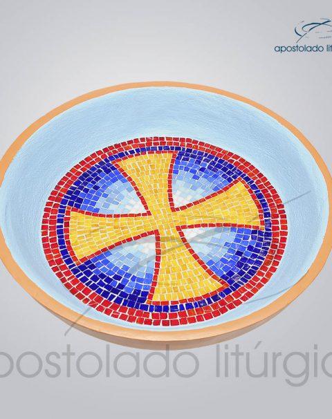 Pia Batismal Cruz 12x47cm (Fundo 32cm)