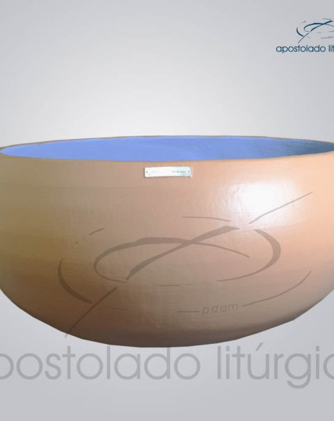 Pia Batismal Cruz Peixe 26×63 cm (Fundo 41cm) Lateral 2