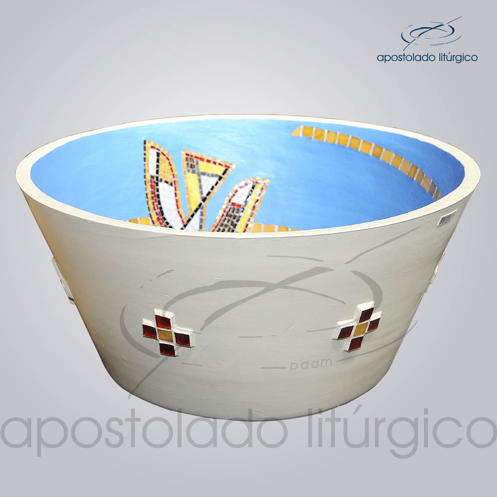 Pia Batismal Espirito 32x66cm Fundo 38cm Lateral | Apostolado Litúrgico Brasil