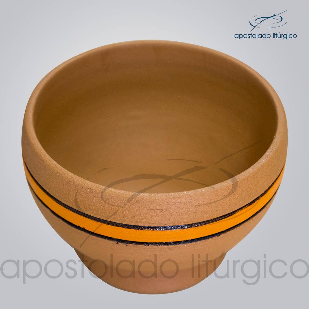 Porta Incenso 7x10cm Faixa Laranja Superior COD 2180   Apostolado Litúrgico Brasil