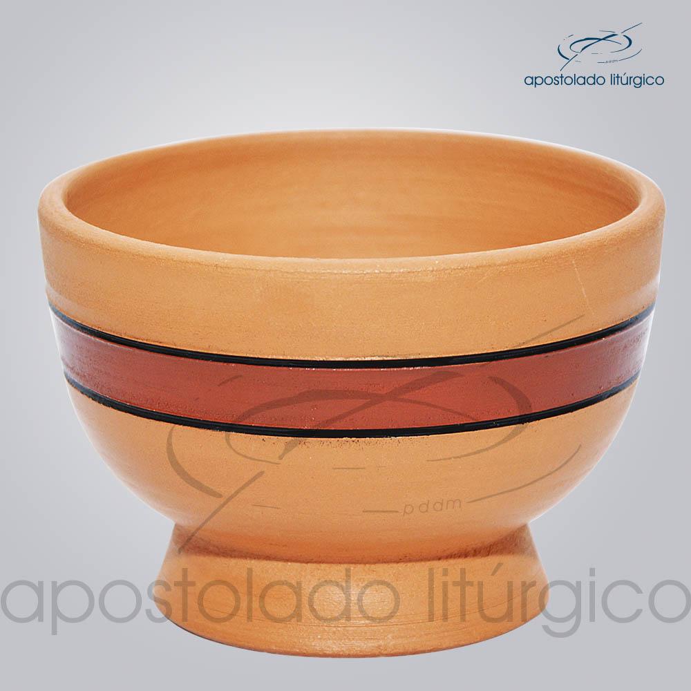 Porta Incenso 7x10cm Faixa Marrom COD 2180   Apostolado Litúrgico Brasil