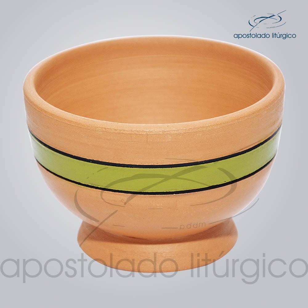 Porta Incenso 7x10cm Faixa Verde COD 2180 | Apostolado Litúrgico Brasil