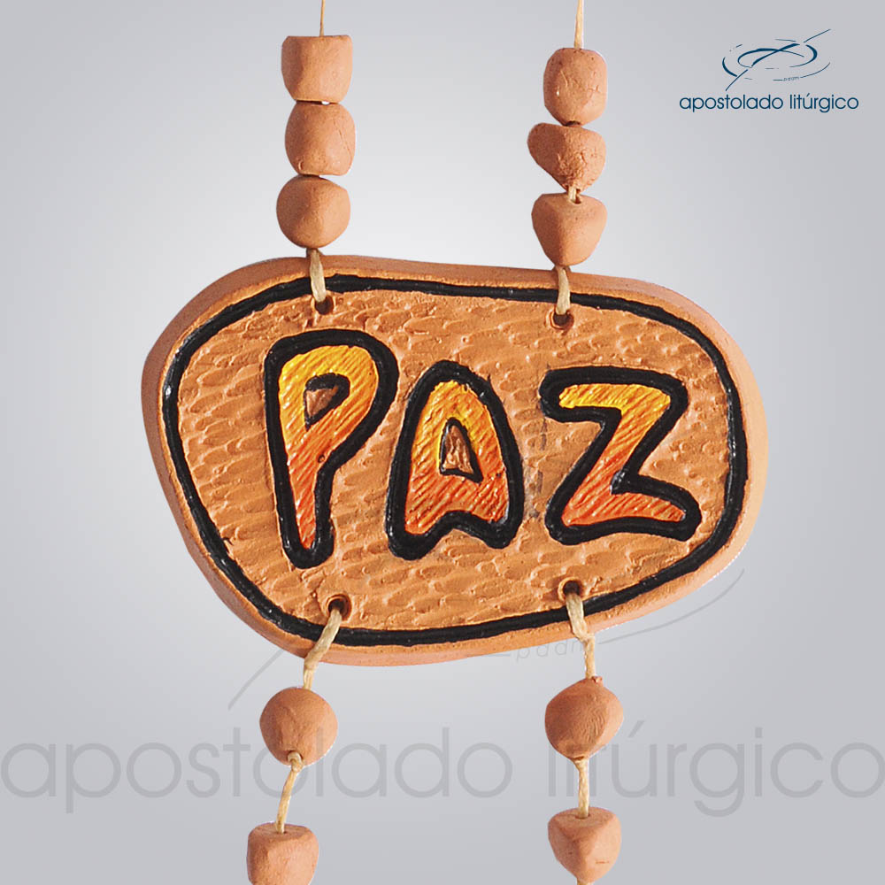 Quadro de Ceramica Pomba Paz 30 cm 2231LARANJA Paz | Apostolado Litúrgico Brasil