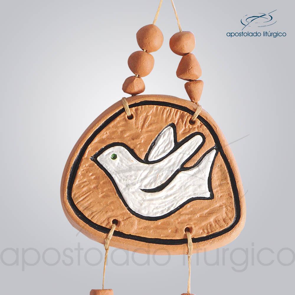 Quadro de Ceramica Pomba Paz 30 cm 2231LARANJA Pomba | Apostolado Litúrgico Brasil