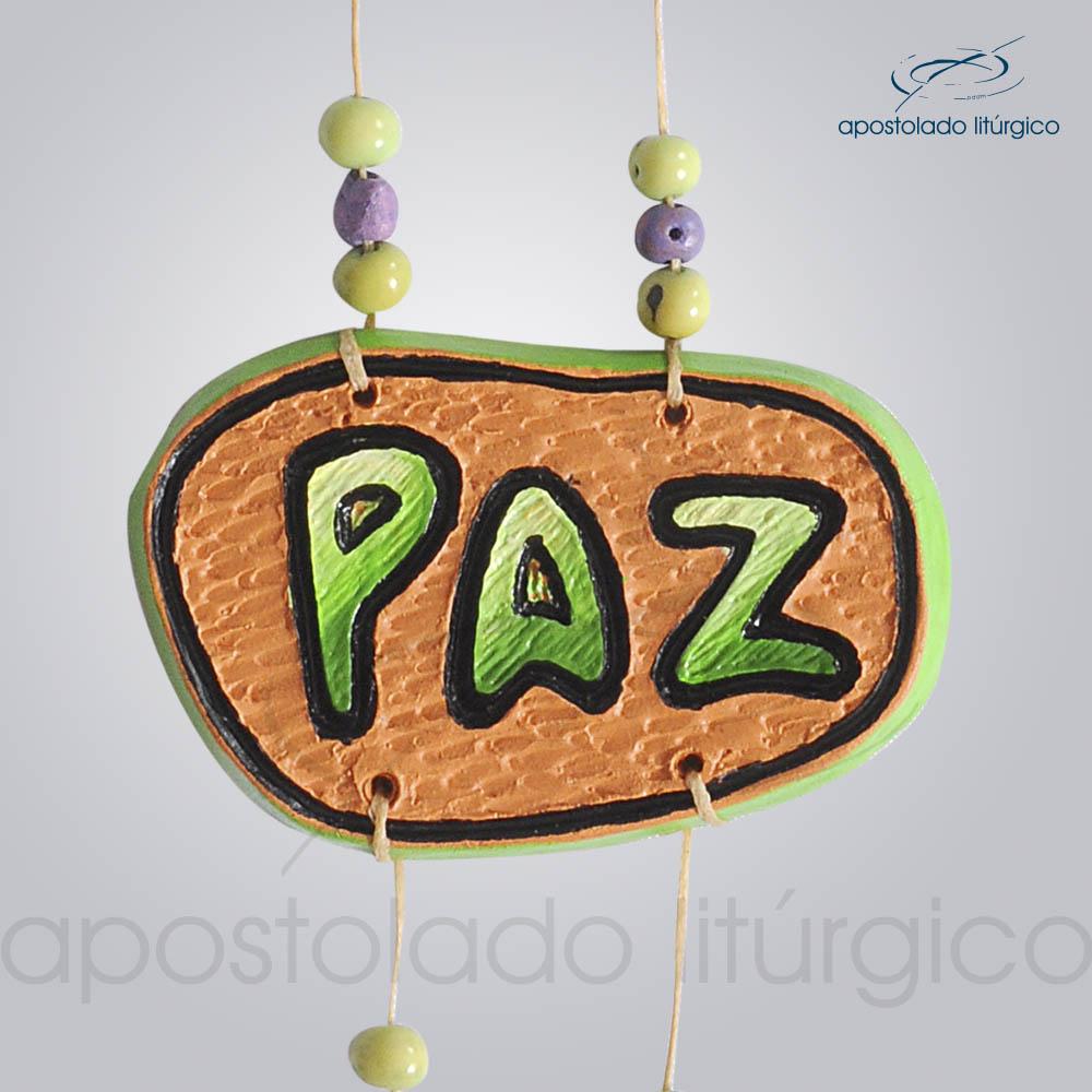 Quadro de Ceramica Pomba Paz 30 cm 2231VERDE Paz | Apostolado Litúrgico Brasil
