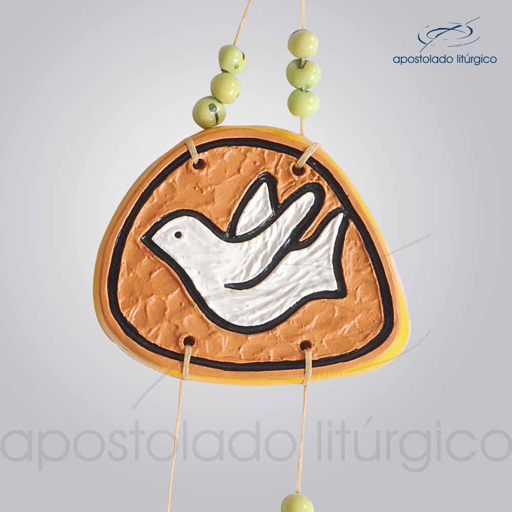 Quadro de Ceramica Pomba Shalom 30 cm 2233AMARELO Pomba | Apostolado Litúrgico Brasil