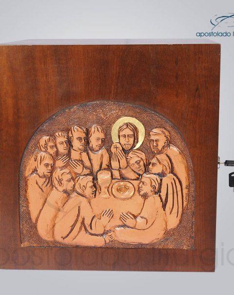 Sacrario Ceia Betumado 32x32x28cm Frente – COD 4074