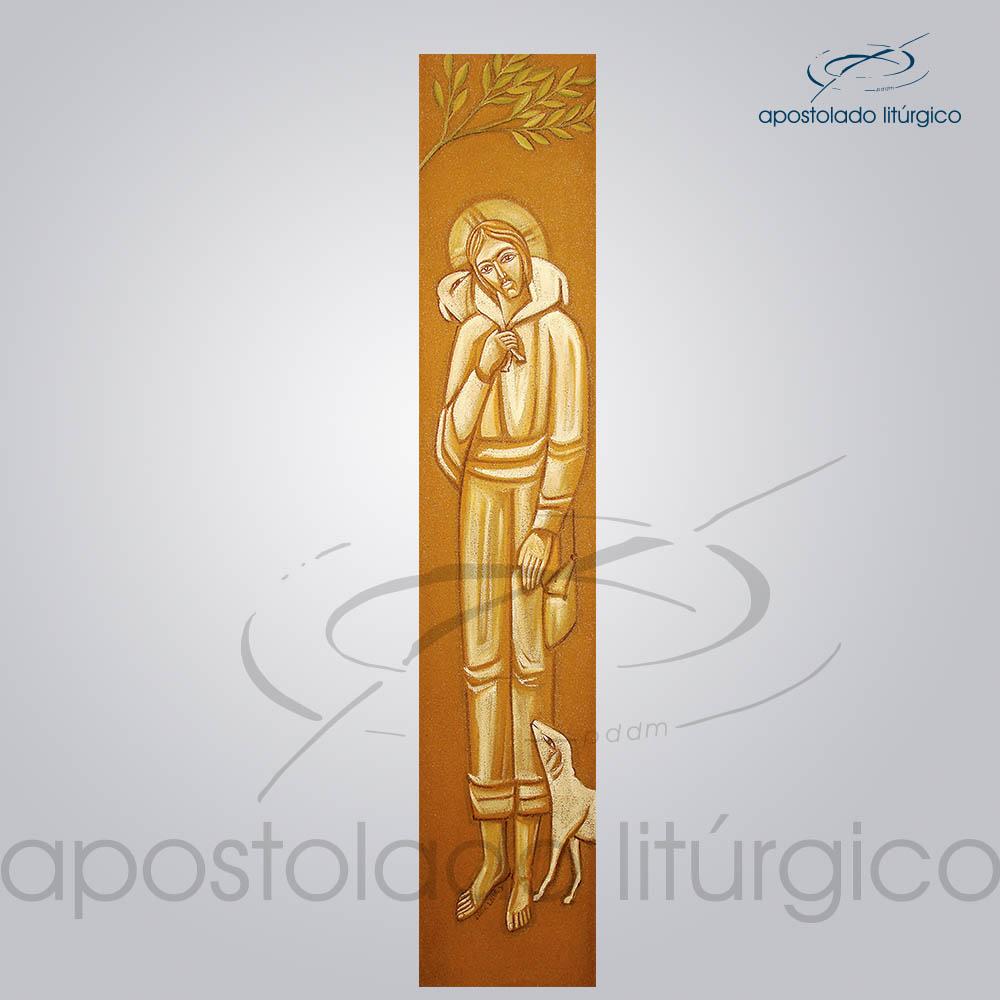 Tela Bom Pastor 20x100cm | Apostolado Litúrgico Brasil
