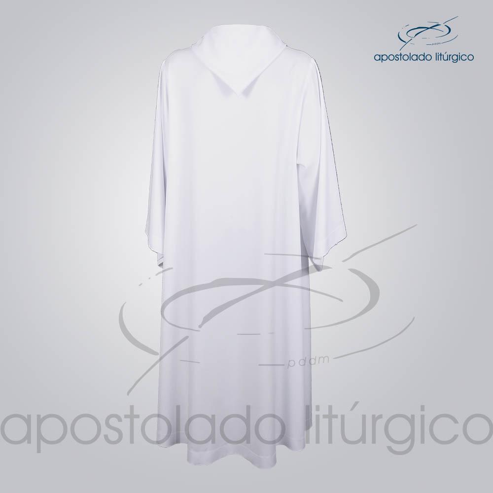 Tunica Monacal Capuz Branca Costas COD 1166 | Apostolado Litúrgico Brasil