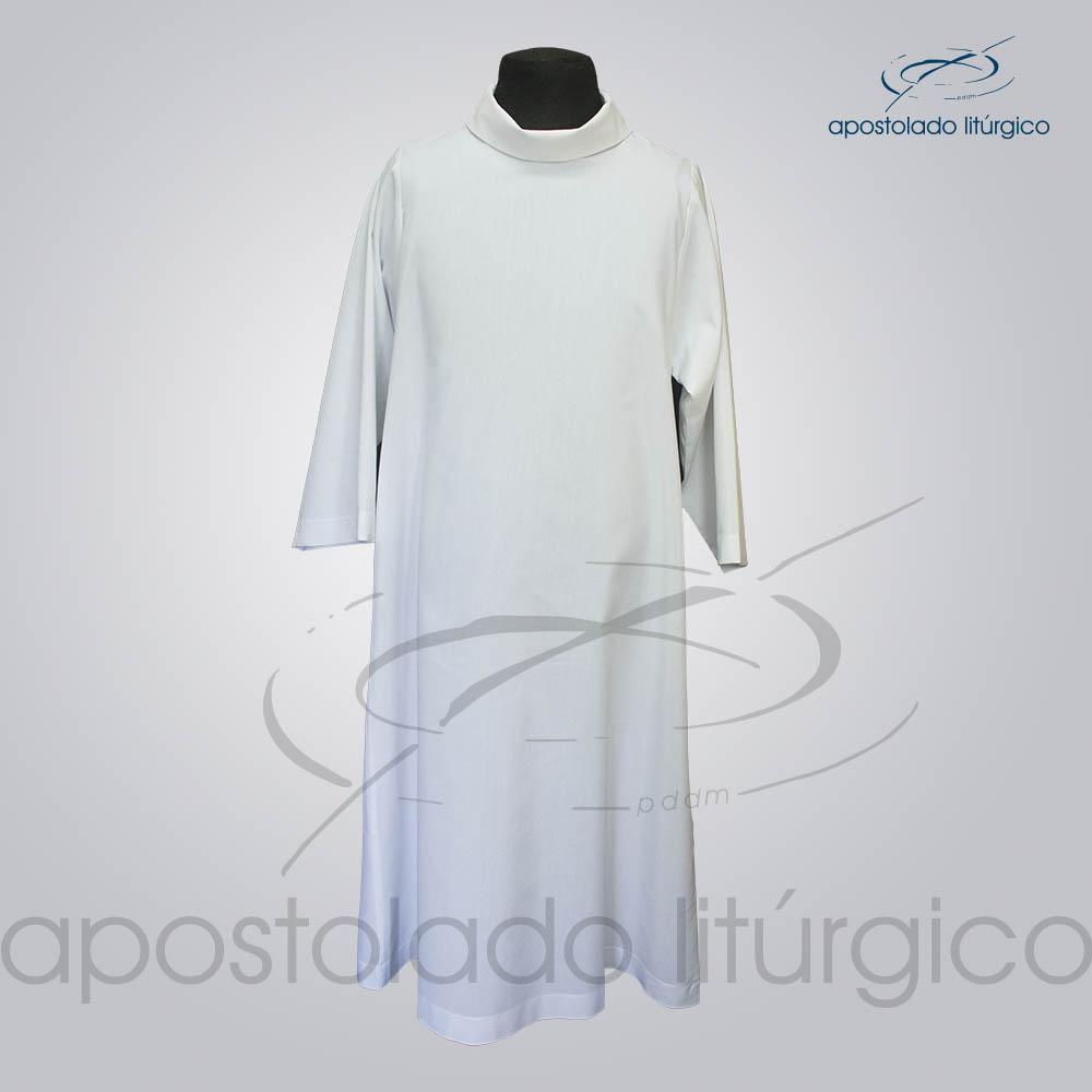 Tunica para Acolito Branca Frente COD 1141   Apostolado Litúrgico Brasil