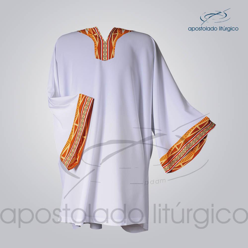 Veste Aplique 13 Gola e Manga Branca COD 3834 | Apostolado Litúrgico Brasil