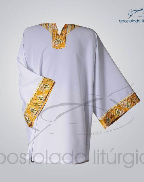 Veste Aplique 9 Gola e Manga Branca – COD 3834